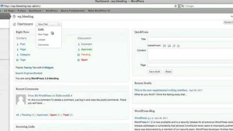 Descarga WordPress 3.2 Beta 1