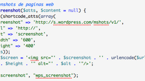 Mostrar la captura de una pagina web en WordPress con shortcode