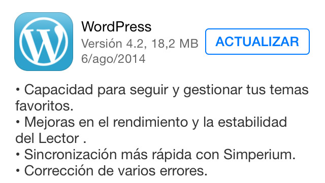 WordPress para iOS